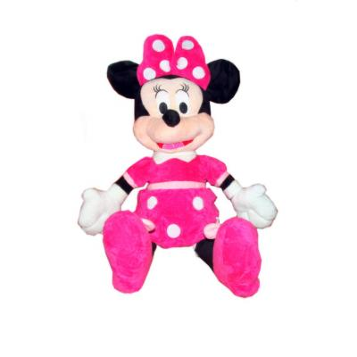 Figurina Minnie Mouse cu rochita roz 50cm