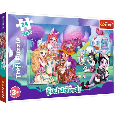 PUZZLE TREFL 24 MAXI FAMILIA ENCHANTIMALS
