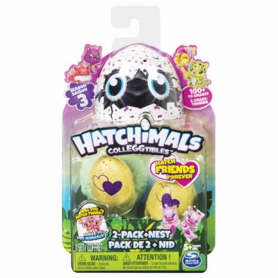 HATCHIMALS COLECTIBIL 2 OUSOARE SI CUIB S3